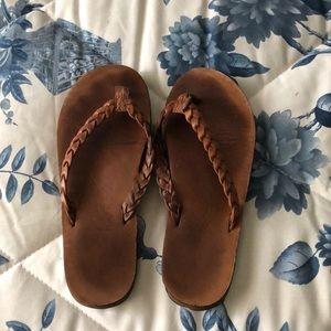 Women's Rainbow leather sandals